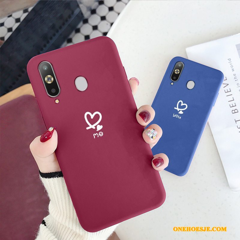 Hoesje Voor Samsung Galaxy A8s Wind Siliconen Rood Clamshell All Inclusive