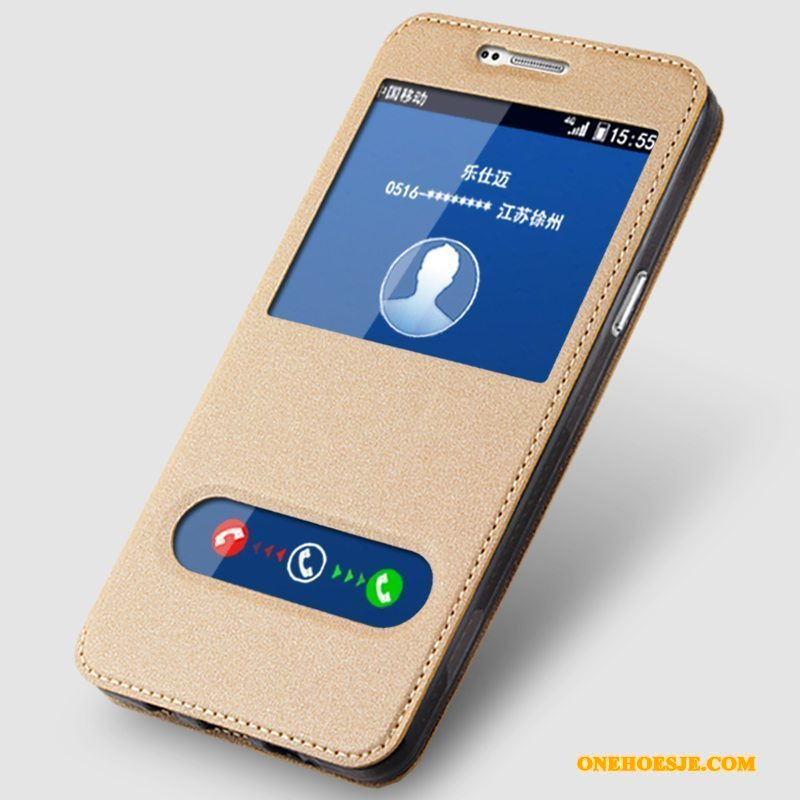 Hoesje Voor Samsung Galaxy A9 Bescherming Anti-fall All Inclusive Hoes Leren Etui Ster