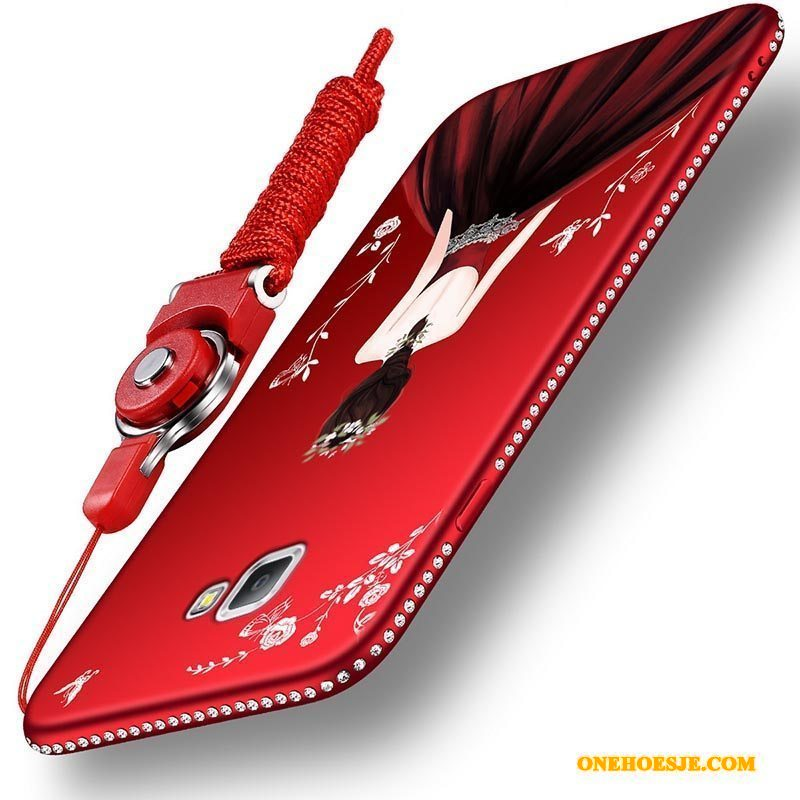 Hoesje Voor Samsung Galaxy A9 Hoge Rood Siliconen All Inclusive Zacht