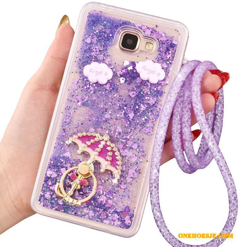 Hoesje Voor Samsung Galaxy A9 Siliconen Zacht Hoge All Inclusive Hoes Purper