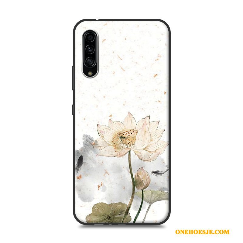 Hoesje Voor Samsung Galaxy A90 5g Hoes Anti-fall Wit Ster Telefoon Wind