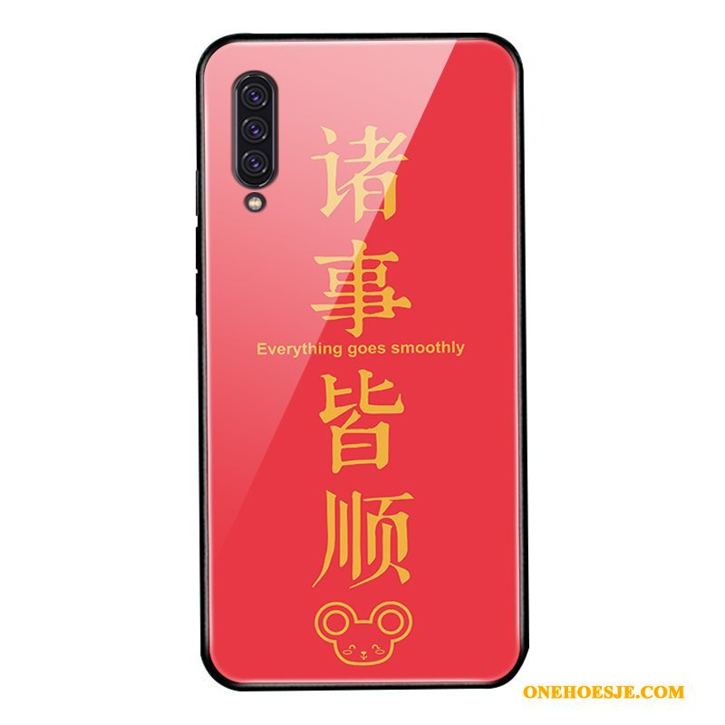 Hoesje Voor Samsung Galaxy A90 5g Rood All Inclusive Glas Bescherming Hoes Net Red