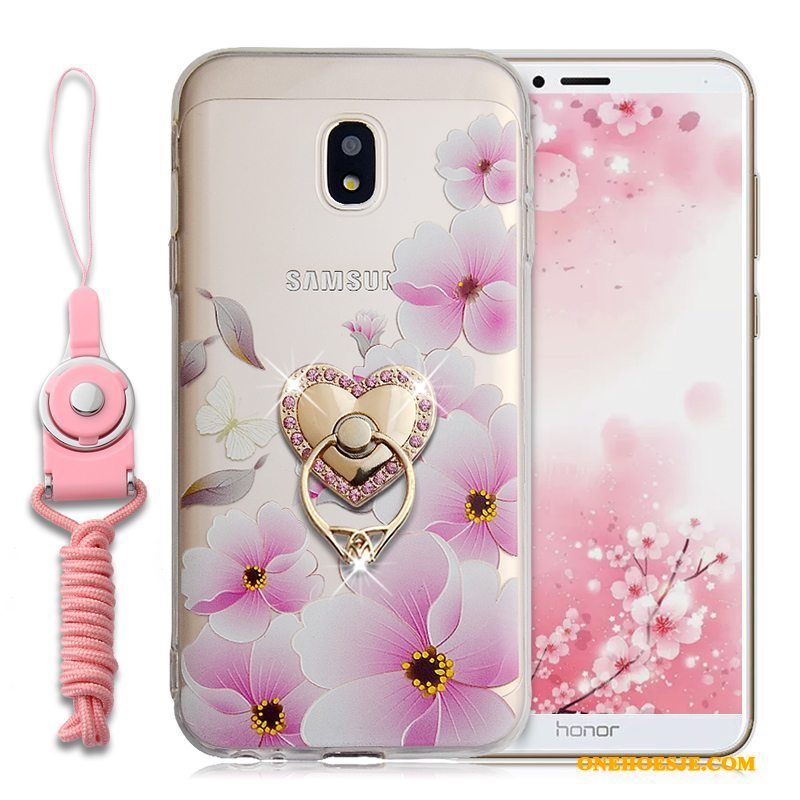 Hoesje Voor Samsung Galaxy J3 2017 Ring Ster Hoes Zacht Roze All Inclusive