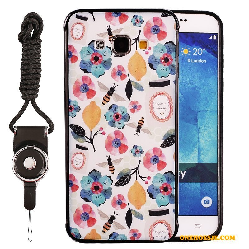 Hoesje Voor Samsung Galaxy J5 2015 Ster Siliconen Hoes Anti-fall Kleur Trend