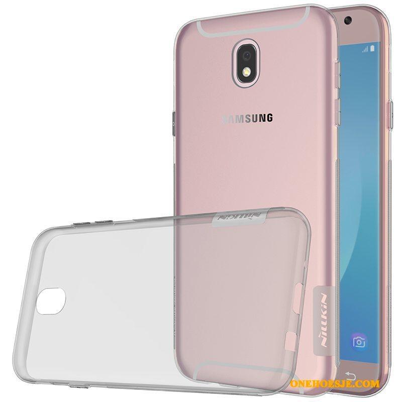 Hoesje Voor Samsung Galaxy J5 2017 Hoes Roze Doorzichtig Telefoon