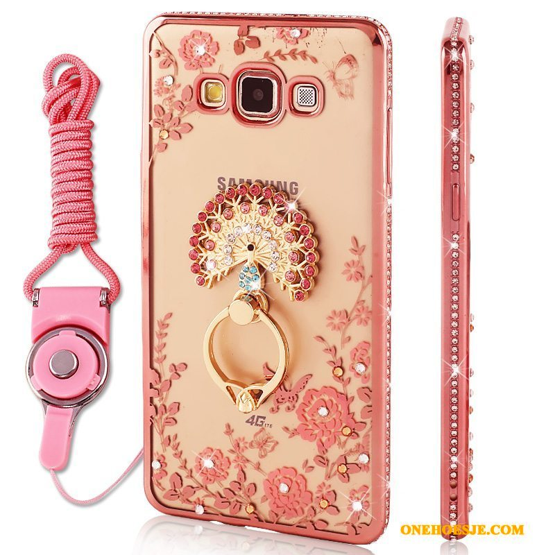Hoesje Voor Samsung Galaxy J7 2016 Roze Hoes Anti-fall Hanger Ster Siliconen