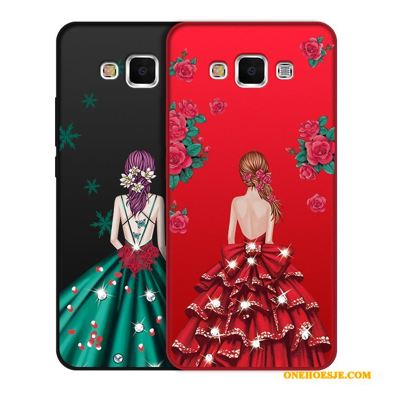 Hoesje Voor Samsung Galaxy J7 2016 Trend Hoes Mobiele Telefoon Rood Siliconen Ster