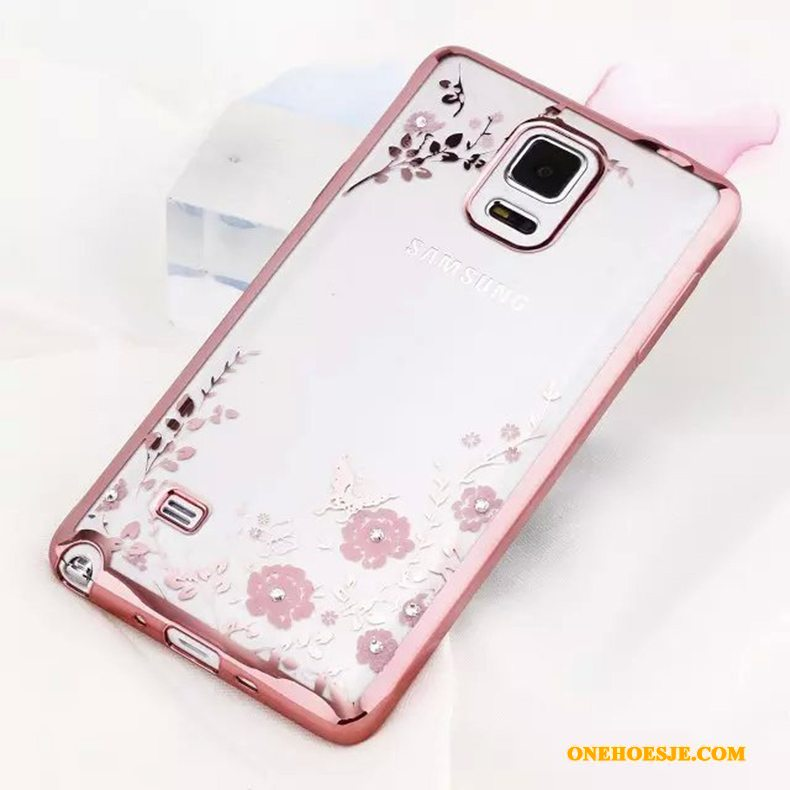 Hoesje Voor Samsung Galaxy Note 4 Roze Anti-fall Hemming Hoes Bescherming Siliconen