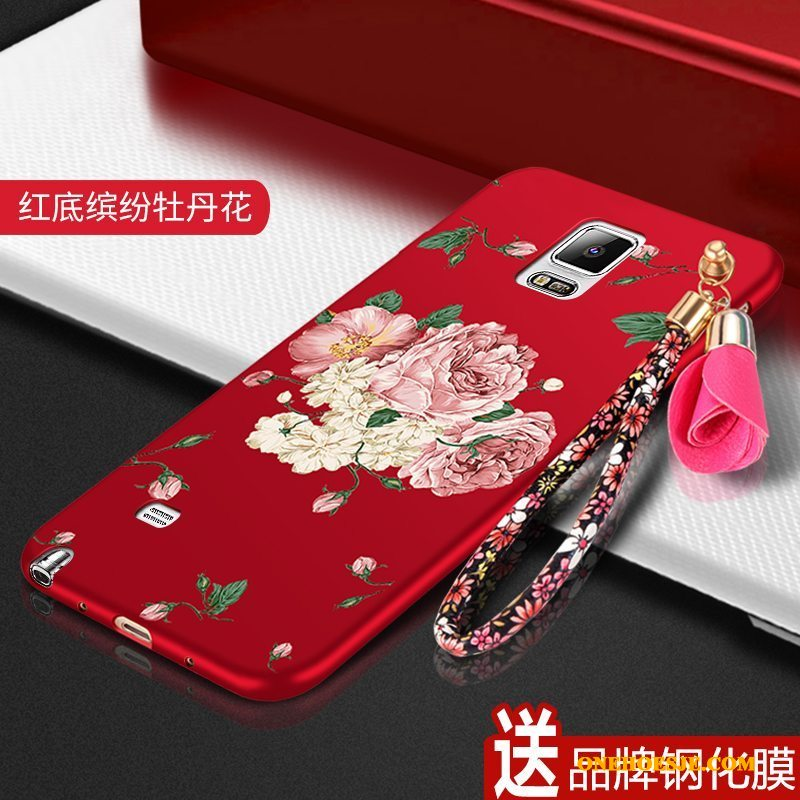 Hoesje Voor Samsung Galaxy Note 4 Ster Zacht Anti-fall All Inclusive Rood Bescherming