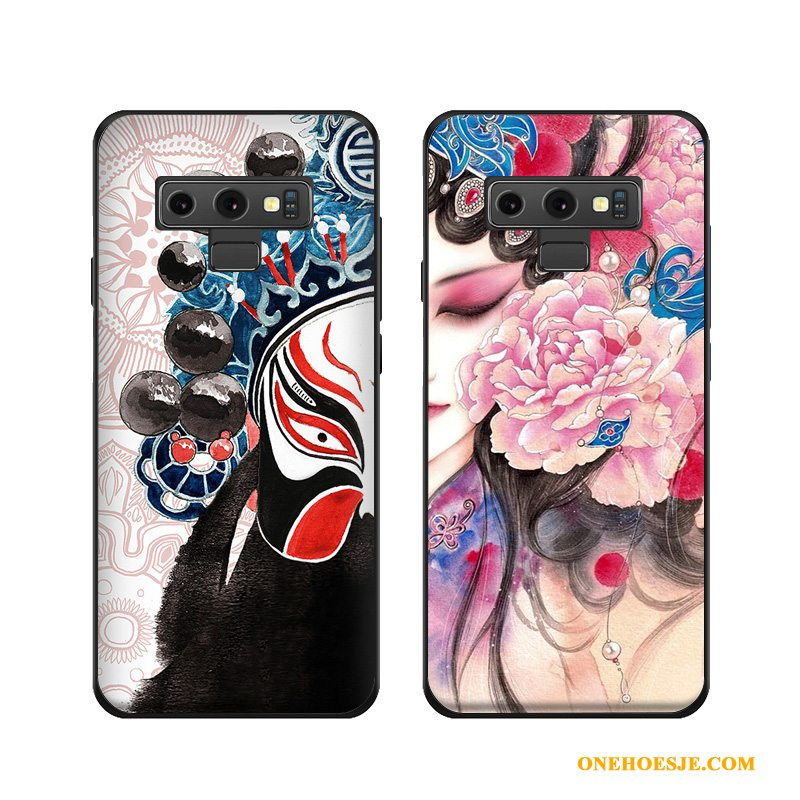 Hoesje Voor Samsung Galaxy Note 9 Ster Bescherming Hoes Anti-fall Chinese Stijl Scheppend