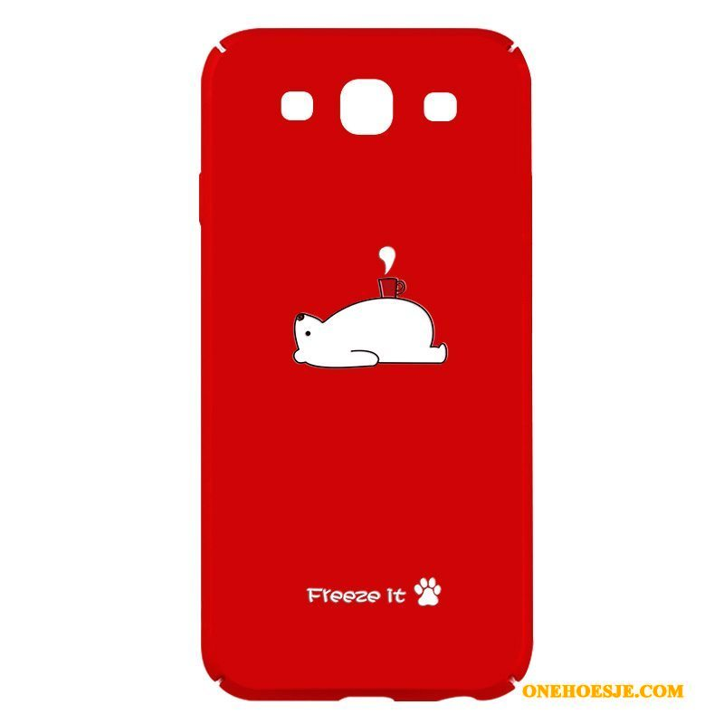 Hoesje Voor Samsung Galaxy S3 Anti-fall Schrobben Hoes Rood Dun Ster