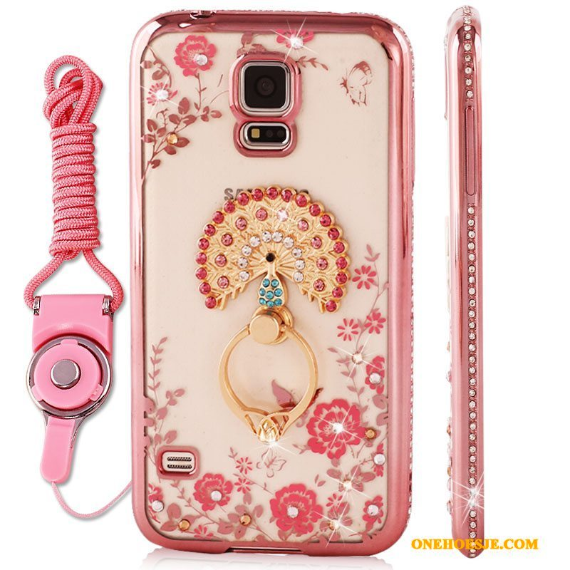 Hoesje Voor Samsung Galaxy S4 Roze Bescherming Plating Ster Anti-fall Hoes