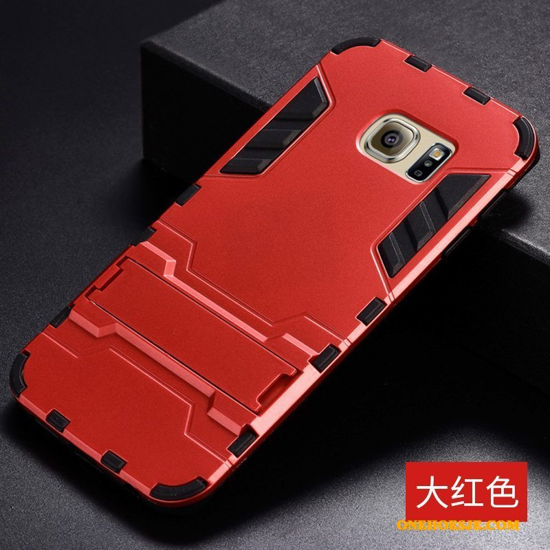 Hoesje Voor Samsung Galaxy S6 Edge Hoes Anti-fall Rood Telefoon All Inclusive Ster