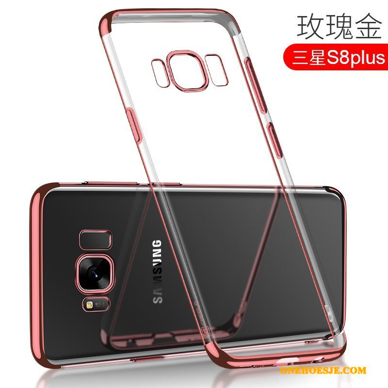 Hoesje Voor Samsung Galaxy S8+ Anti-fall All Inclusive Siliconen Zacht Telefoon Rose Goud