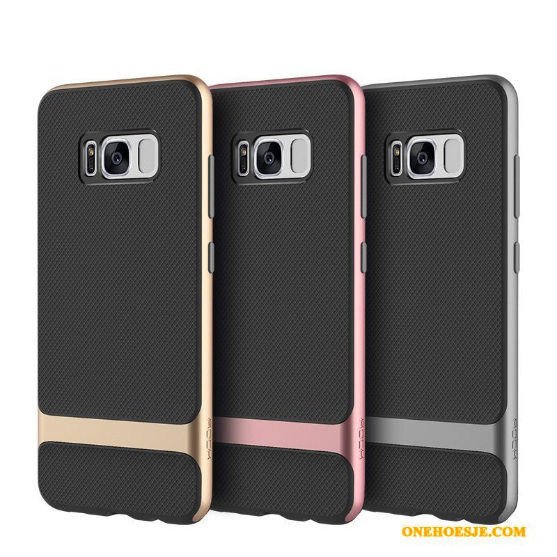 Hoesje Voor Samsung Galaxy S8+ Dun Siliconen Anti-fall All Inclusive Kleur Telefoon