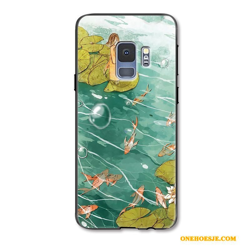 Hoesje Voor Samsung Galaxy S9 All Inclusive Hoes Karper Ster Anti-fall Reliëf