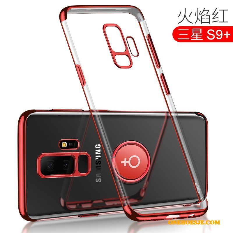 Hoesje Voor Samsung Galaxy S9+ Doorzichtig Anti-fall Siliconen Trendy Merk All Inclusive Hoes