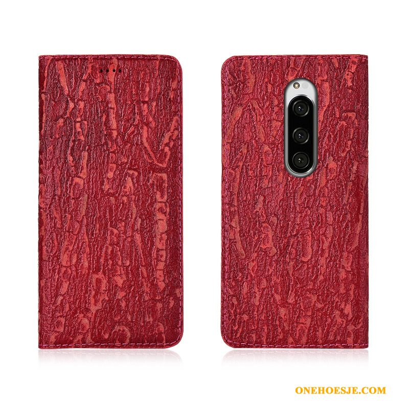 Hoesje Voor Sony Xperia 1 Rood Bescherming Anti-fall Clamshell All Inclusive