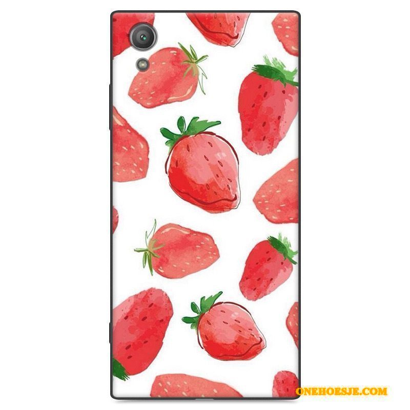 Hoesje Voor Sony Xperia Xa1 Plus Anti-fall Scheppend Hoes Siliconen All Inclusive Zwart
