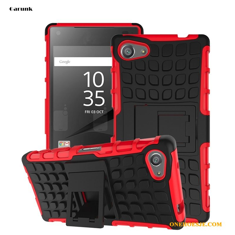 Hoesje Voor Sony Xperia Z5 Compact Zacht Rood Telefoon All Inclusive Ondersteuning Anti-fall