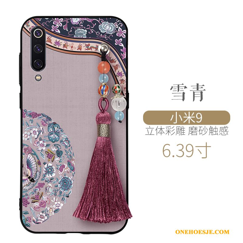 Hoesje Voor Xiaomi Mi 9 Wind Mini Siliconen Chinese Stijl Anti-fall Paleis