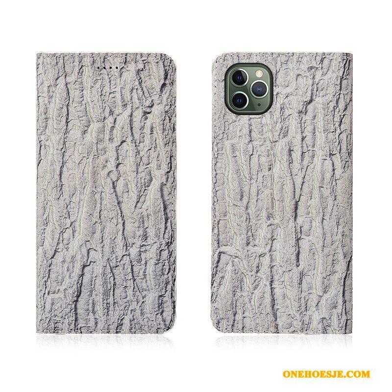Hoesje Voor iPhone 11 Pro Max Anti-fall Hoes Boom Telefoon Leren Etui Scheppend
