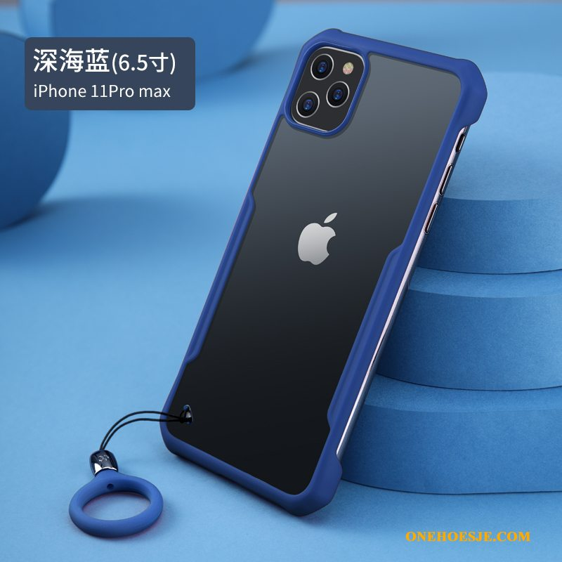 Hoesje Voor iPhone 11 Pro Max Blauw Nieuw Persoonlijk Bescherming High End Anti-fall