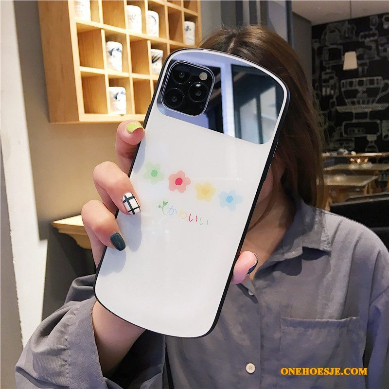 Hoesje Voor iPhone 11 Pro Max Mini Glas Wit Spiegel Wind