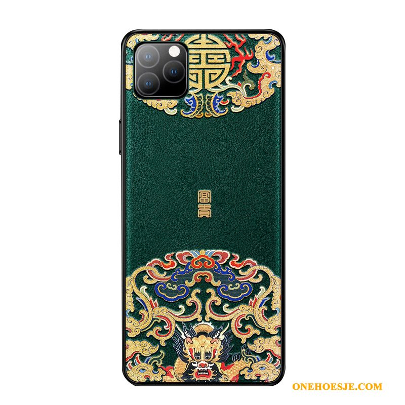 Hoesje Voor iPhone 11 Pro Max Trendy Merk Anti-fall Chinese Stijl Telefoon All Inclusive Patroon