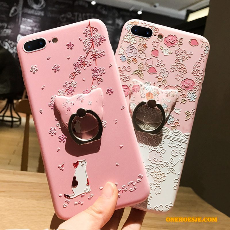 Hoesje Voor iPhone 6/6s Hanger Telefoon Ring Anti-fall Spotprent All Inclusive