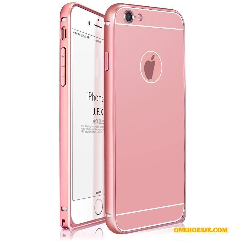 Hoesje Voor iPhone 6/6s Plus Rose Goud Legering Anti-fall All Inclusive Omlijsting