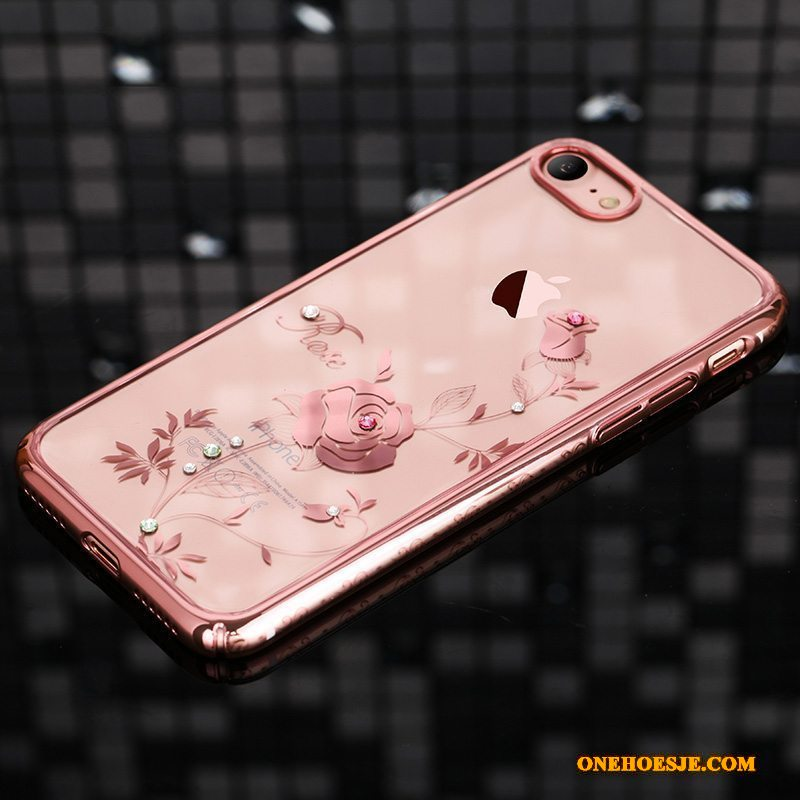 Hoesje Voor iPhone 7 Anti-fall Hoes All Inclusive Luxe Telefoon Met Strass