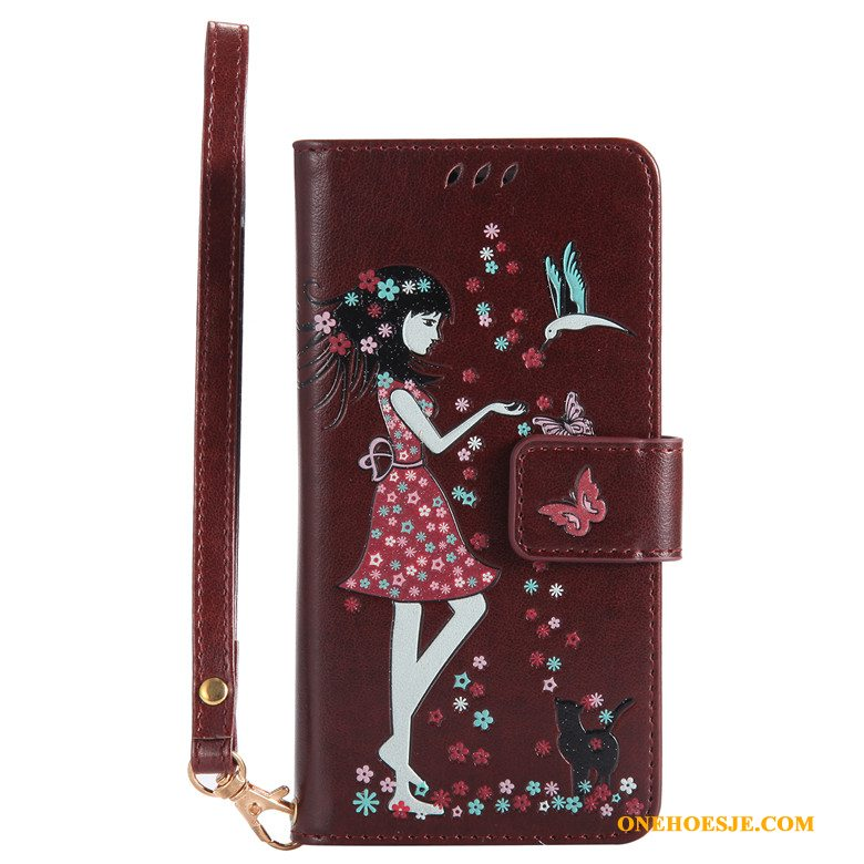 Hoesje Voor iPhone Xr All Inclusive Telefoon Lichtende Anti-fall Leren Etui Folio